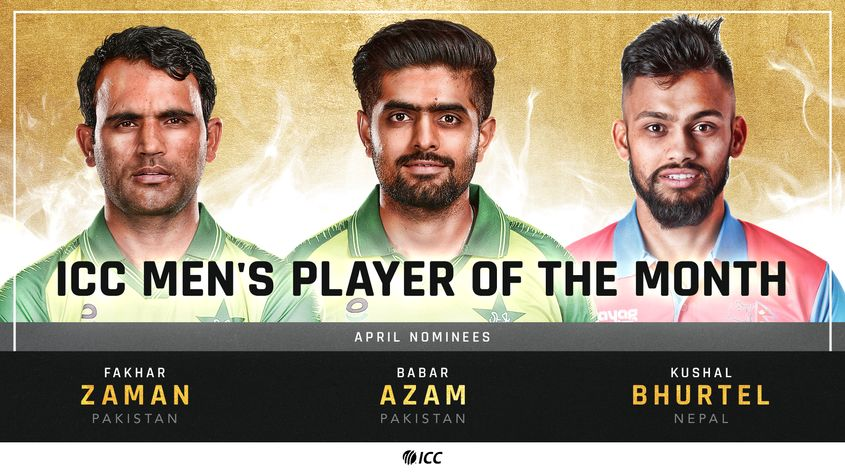 ICC Men's Player of the Month – April 2021