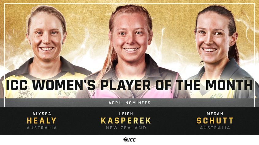 Healy, Kasperek and Schutt – The ICC Women's Player of the Month nominees for April 2021