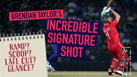 Brendan Taylor's signature shot