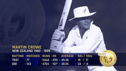 ICC Hall of Fame: Martin Crowe | 'The greatest New Zealand batsman of all time'