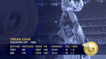 ICC Hall of Fame: Imran Khan | 'A fighter who fought till the last ball'