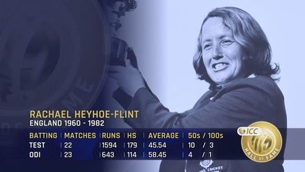 ICC Hall of Fame: Rachael Heyhoe-Flint | 'The face of women's cricket'