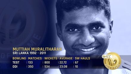 ICC Hall Of Fame: Muttiah Muralitharan | 'Freakishly brilliant'