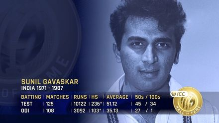 ICC Hall of Fame: Sunil Gavaskar | 'Small in size but not in stature'