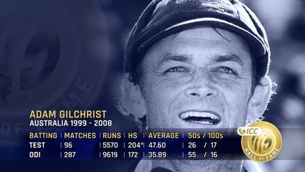 ICC Hall of Fame: Adam Gilchrist | 'He changed the face of cricket'