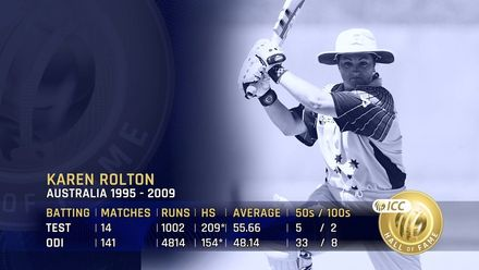 ICC Hall of Fame: Karen Rolton | 'One of the top names in the women's game'