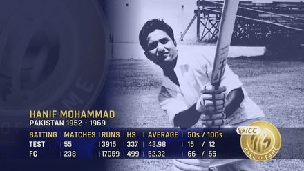 ICC Hall of Fame: Hanif Mohammad | 'Beneath the charm was a real inner steel'