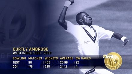 ICC Hall of Fame: Curtly Ambrose | 'His extra bounce troubled everyone'