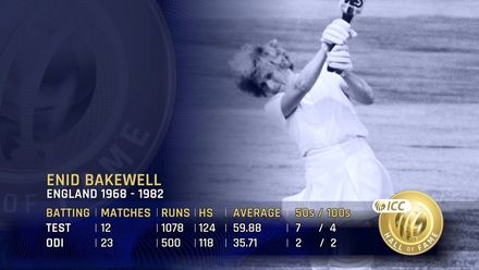 ICC Hall of Fame: Enid Bakewell | 'An absolute legend of the women's game'