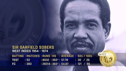 ICC Hall of Fame: Sir Garfield Sobers | 'An incredibly gifted athlete'