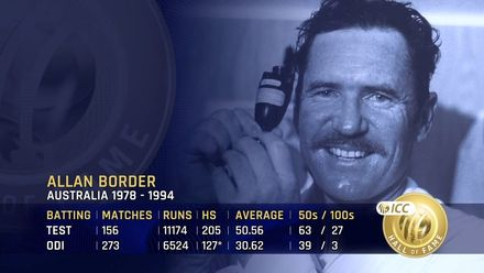 ICC Hall of Fame: Allan Border | 'One of the toughest cricketers'