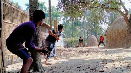 The batsman would not be too worried about his stumps getting knocked over. Photo credit: Al Numan Koka. Location: Netrokona, Dhaka, Bangladesh