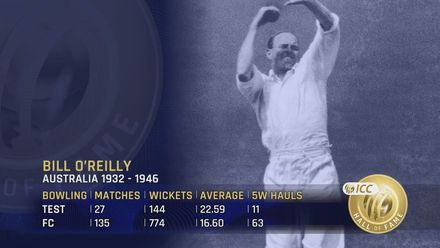 ICC Hall of Fame: Bill O'Reilly | 'The Tiger'