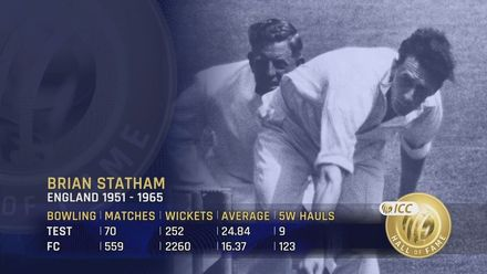 ICC Hall of Fame: Brian Statham | 'A tremendously accurate bowler'