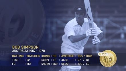 ICC Hall of Fame: Bob Simpson   'He was born for cricket'