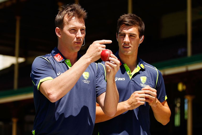Brett Lee and his favourite bowler right now.
