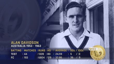 ICC Hall of Fame: Alan Davidson | 'Strong bloke with a lively pace'