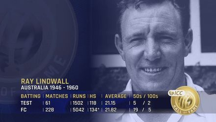 ICC Hall of Fame: Ray Lindwall | 'A gentle man and a gentleman'