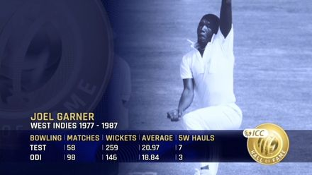 ICC Hall of Fame: Joel Garner | 'The perfect one-day bowler'