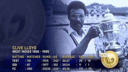 ICC Hall of Fame: Clive Lloyd | 'A remarkable captain of West Indies'