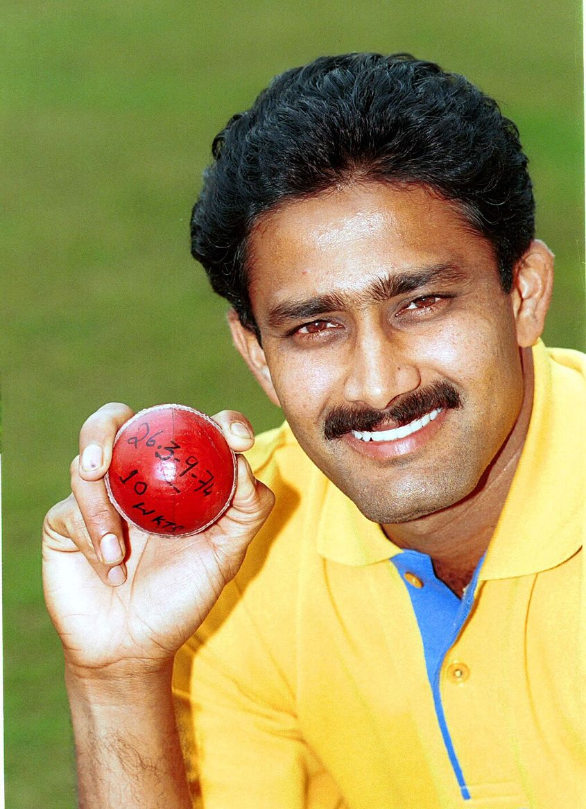 Anil Kumble and his 10-wicket ball.