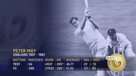 ICC Hall of Fame: Peter May | Elegant, classical batsman