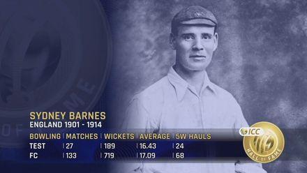 ICC Hall of Fame: Sydney Barnes | 'An extraordinary performer'