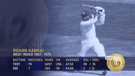 ICC Hall of Fame – Rohan Kanhai | 'He wasn't an accumulator, he was a stroke-maker'