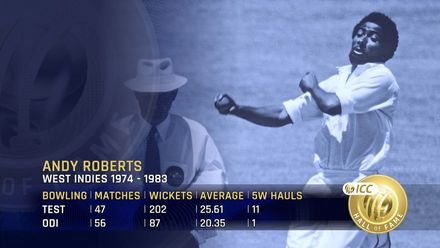 ICC Hall of Fame – Andy Roberts | 'Not only was he quick, he was skilful'