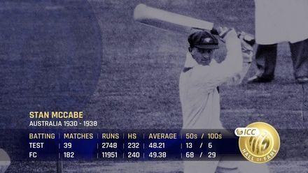 ICC Hall of Fame 2021 | Stan McCabe