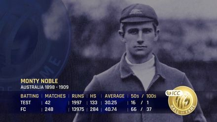 ICC Hall of Fame 2021 | Monty Noble