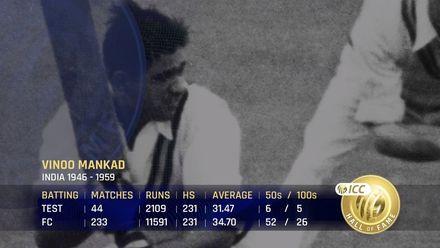 ICC Hall of Fame 2021 | Vinoo Mankad