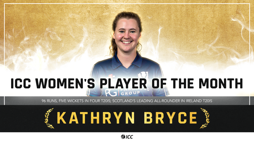 Kathryn Bryce - ICC Women's Player of the Month for May 2021