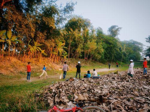 Grassy pitch. Photo credit: Jobayer Ahmed. Location: Shibchar Upazila, Bangladesh