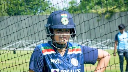 India Women at the nets ahead of England Test