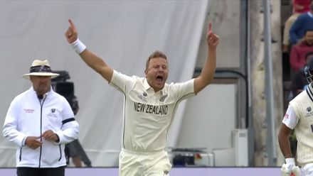 Wagner gets New Zealand's second | WTC21 Final | Ind v NZ