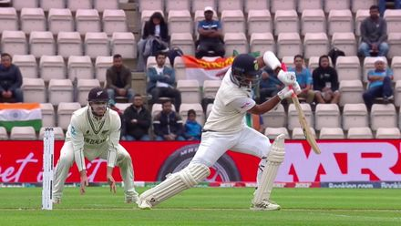Pujara drives sweetly to get his second boundary | WTC21 Final | Ind v NZ