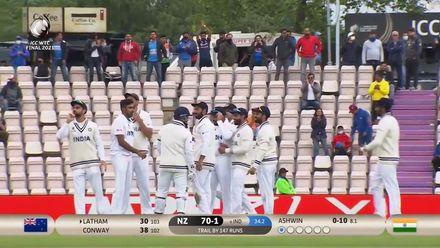 Ashwin sends Latham packing | WTC21 Final | Ind v NZ