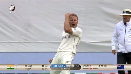 Wagner stops Rahane's momentum | WTC21 Final | Ind v NZ