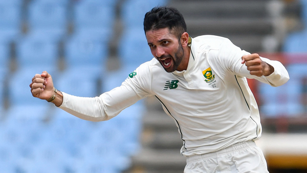 Maharaj's historic hat-trick fuels South Africa victory