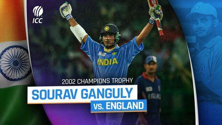 Ganguly's stunning 117* v England | 2002 Champions Trophy