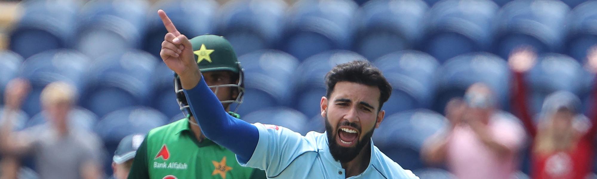 Mahmood starred in the first ODI
