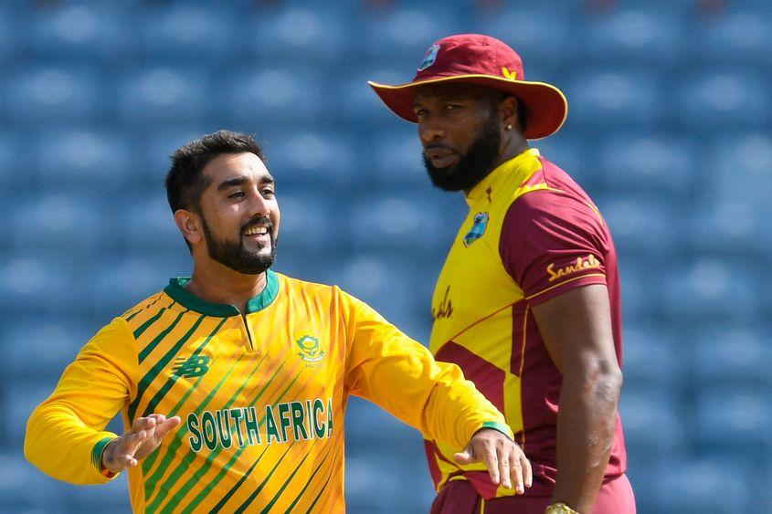 Tabraiz Shamsi sits atop the T20I bowling rankings.