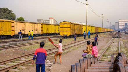 On the right track! Photo credit: Zohair Abedin Location: Farmgate Railway Station, Dhaka