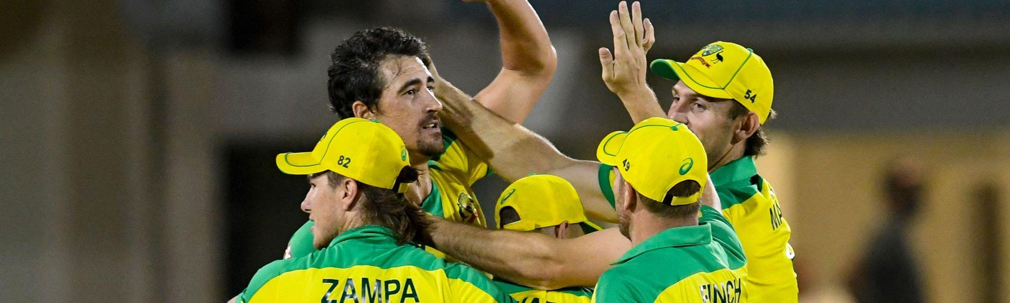 Australia celebrate victory in first ODI