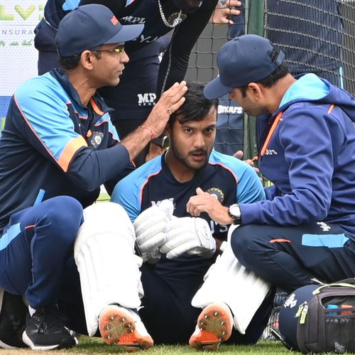 Mayank Agarwal ruled out of first England Test with concussion