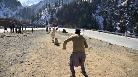 Cricket with a view. Photo credit: Asadullah Khan. Location: Chitral, Pakistan