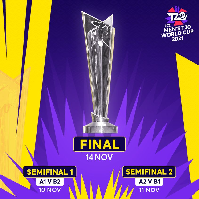 ICC Men's T20 World Cup 2021 - semi-final and final