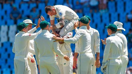 After injuries delayed him, Steyn finally became South Africa's most prolific Test bowler, overtaking Shaun Pollock's 421 wickets, in 2019