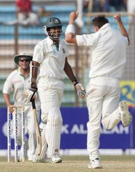 Two years down the line, he had his first 100 – Bangladesh's Junaid Siddique became his 100th Test scalp